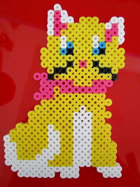 gracefulfig: Miss Curious Kitty Perler