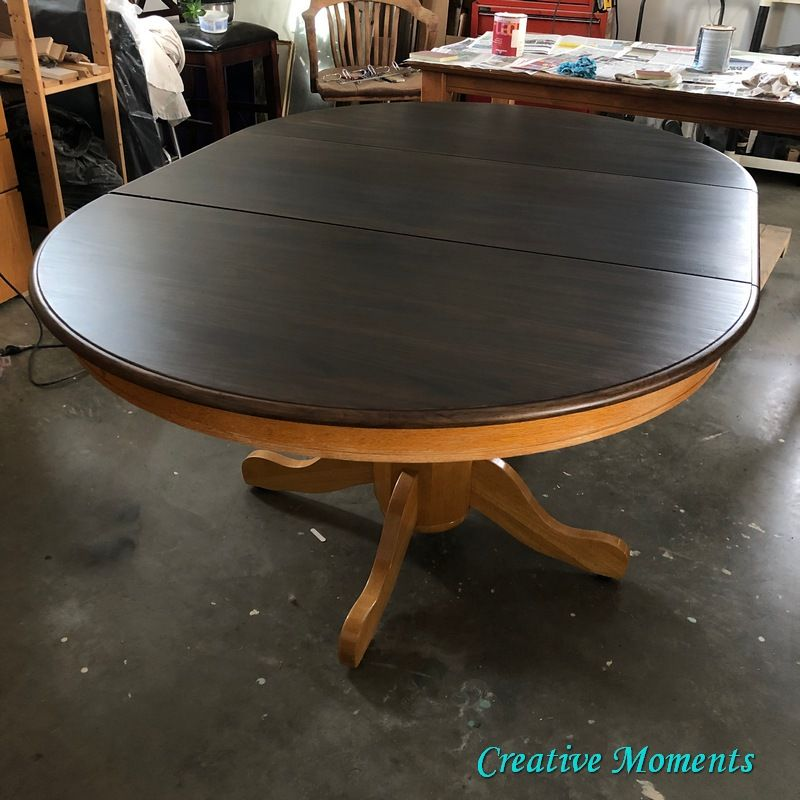 how to stain oak dining table over existing finish diy in
