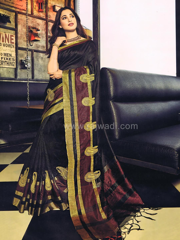 Raw silk tamannah bhatia saree rajwadi saree sareeswag