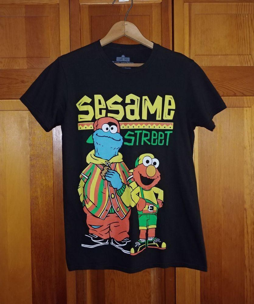 Sesame Street 2017 Size Small Black Tshirt Reggae Elmo