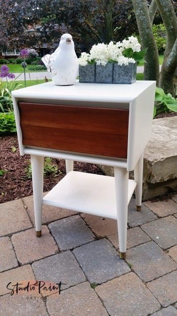 """Mid Century Modern Bedside Table """"Fisherville"""" 