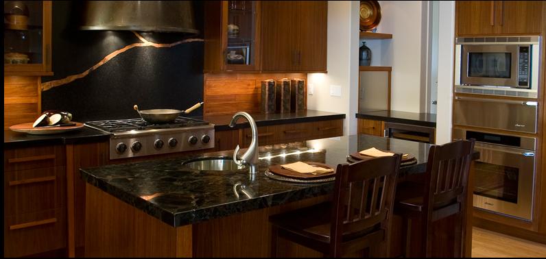 designer siri evju turned an style kitchen into a hard working yet warm teak retreat earning the best overall kitchen design award for 2009 - Stone Slab Kitchen Decor