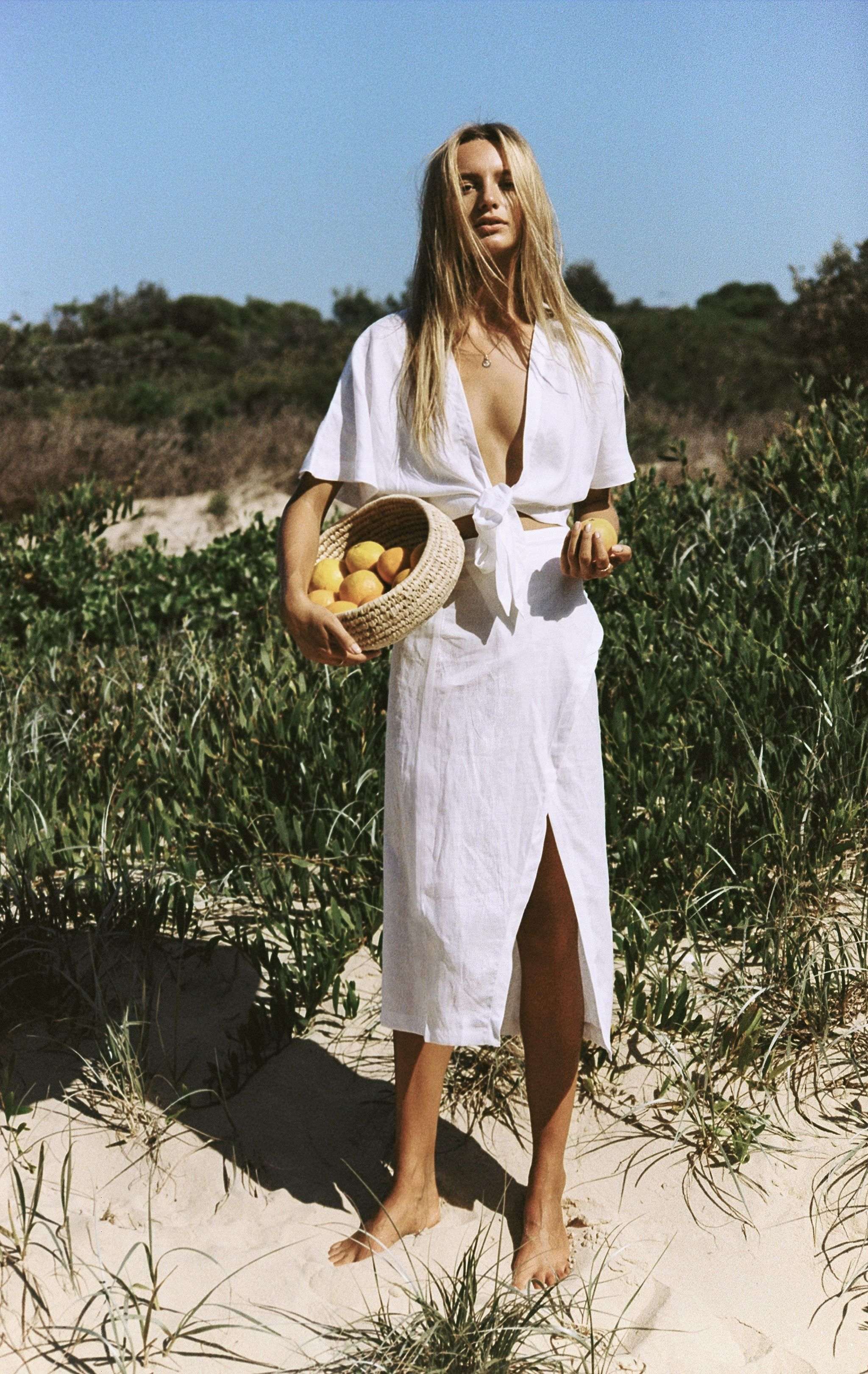 Maya Stepper Stars In The Ultra Beachy Inspo For Australian Womens Fashion Brand Sir The Label Photographed By Brymack