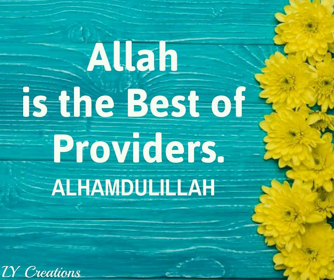 allah is the best of providers