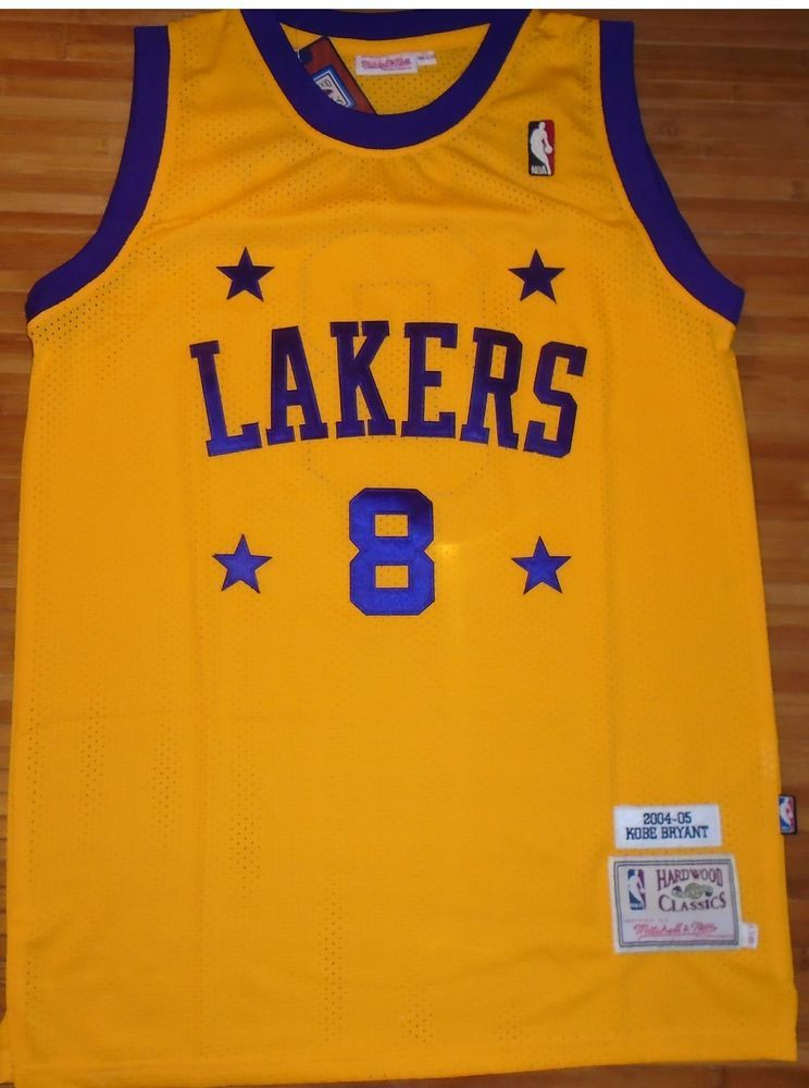 8ed6c244ee7 Details about New Los Angeles Lakers  8 Kobe Bryant Retro Yellow ...