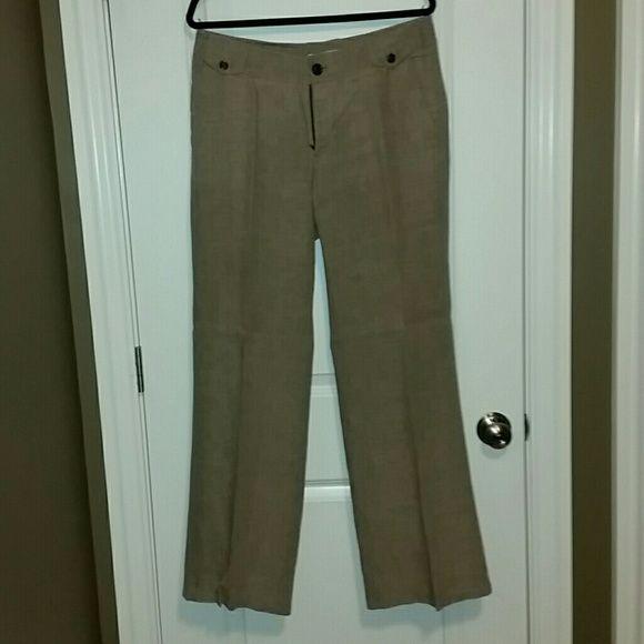 """Banana Republic wide leg Linen pants - sz 10 Banana Republic """"ryan fit"""" brown linen pants. Wide leg. Size 10. Banana Republic Pants Wide Leg"""