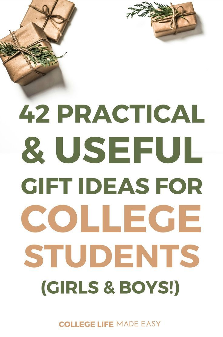 42 Practical Useful Gift Ideas for College Students That Girls