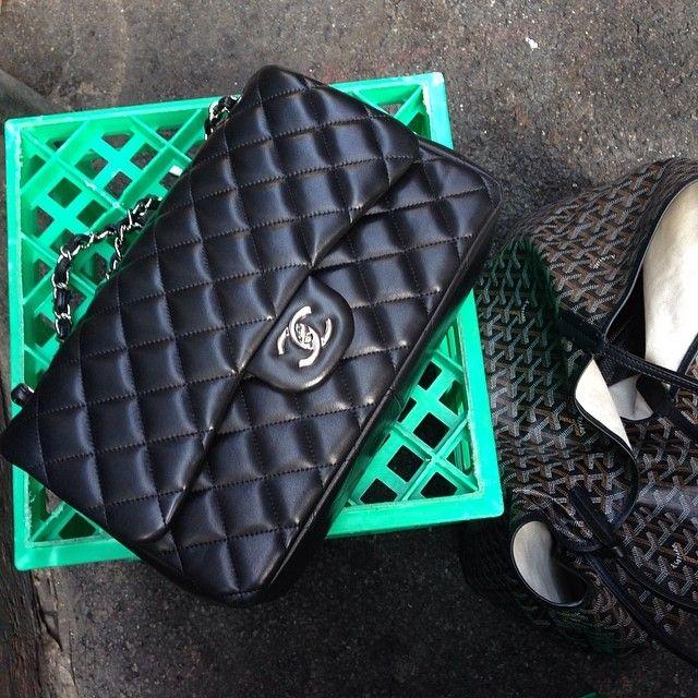 Milk crates and Chanel #Chanel #Goyard by tashsefton