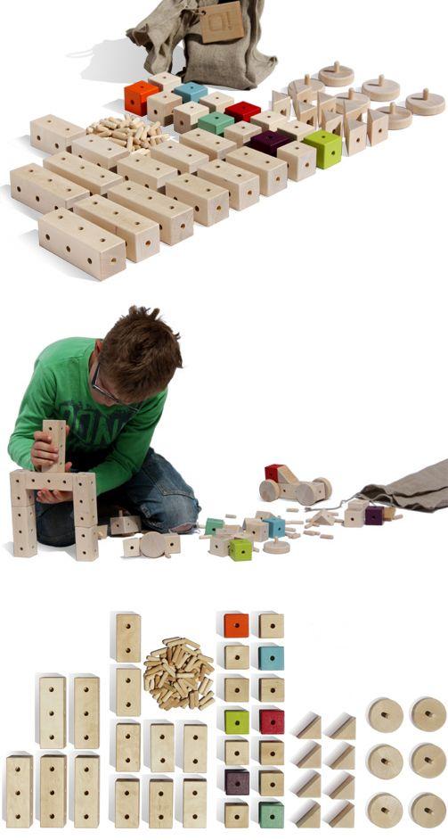 Ikipi Construction Toy NONAH Toys 3D Pinterest Jouet bois - jeux de construction de maison en 3d
