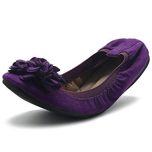 5a0091235 Ollio Women's Shoes Faux Suede Decorative Flower Slip On Comfort Light  Ballet Flat   Shop For Trendy   Online Trendy Shop   Fashion Trends For  Trendy