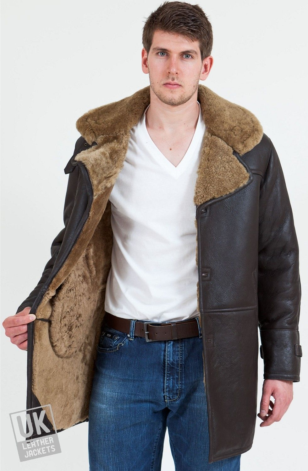 Men's Shearling Sheepskin Coat - Elgin - Lining | Pelz für Männer ...