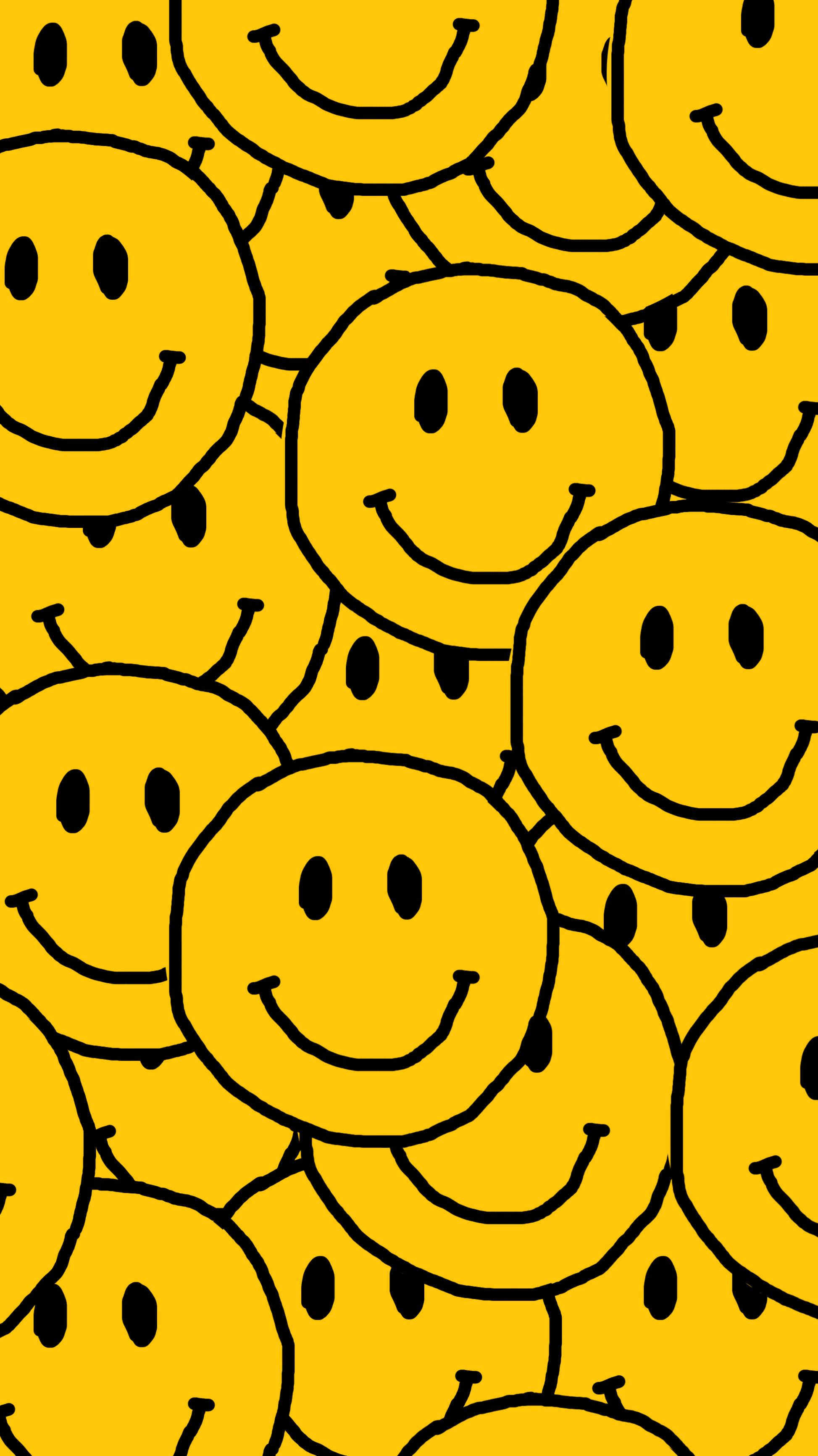 Smiley Face For Overlap Wallpaper Hippie Wallpaper Cute Patterns Wallpaper Art Collage Wall