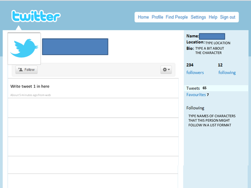 blank twitter profile template - image result for blank twitter page template hoover