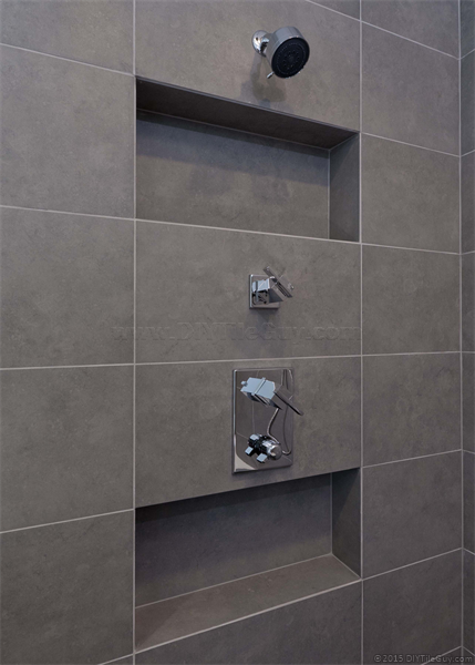 How To Install A Recessed Shampoo Niche In An Exterior Wall Of A Tile Shower Without Completely