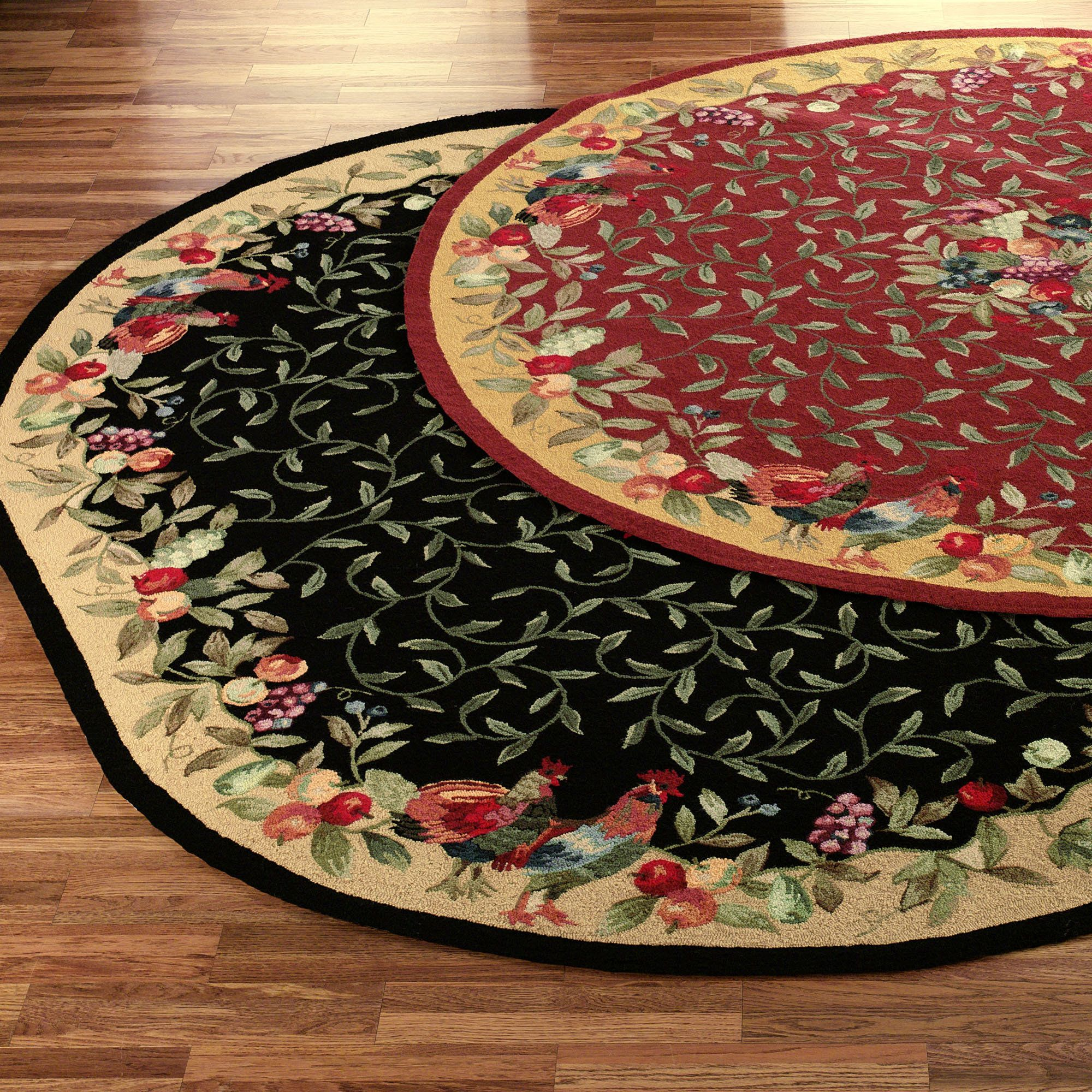 Print of Rooster Kitchen Rugs Creating a Country Kitchen Nuance ...
