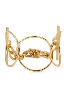 Rigid Hoop 23ct gold-plated cuff | bracelets | Jewelry, Gold, Gold