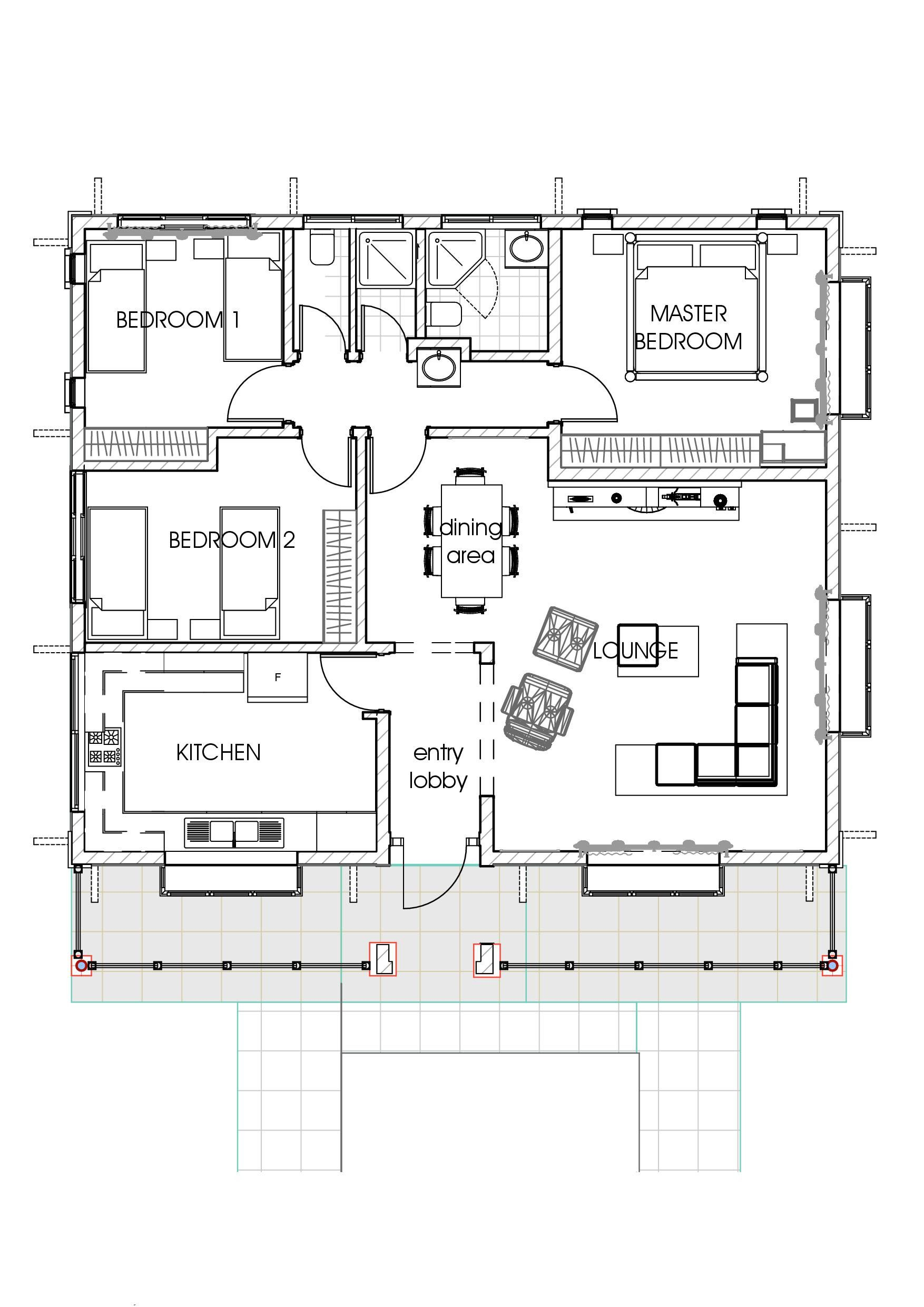 House Plans And Estimated Cost To Build 2020 In 2020 Three Bedroom House Plan Bedroom House Plans Bungalow House Floor Plans