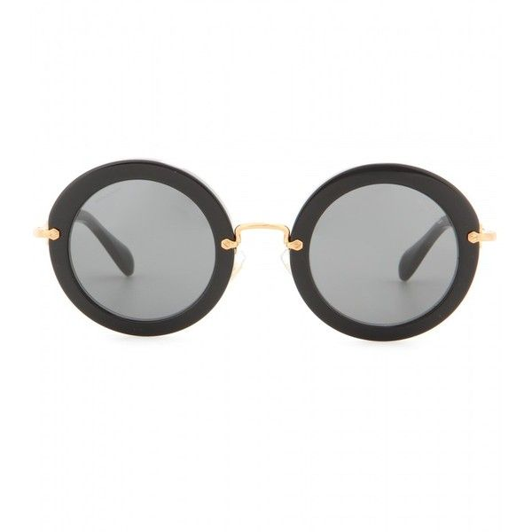 Miu Miu Round Sunglasses (2.155 NOK) ❤ liked on Polyvore