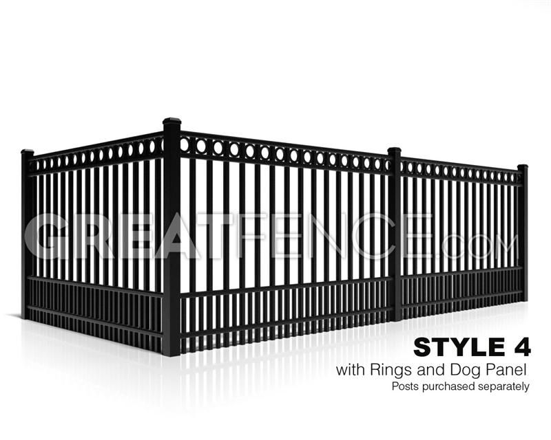 metal fence panels residential aluminum fence panel style 4