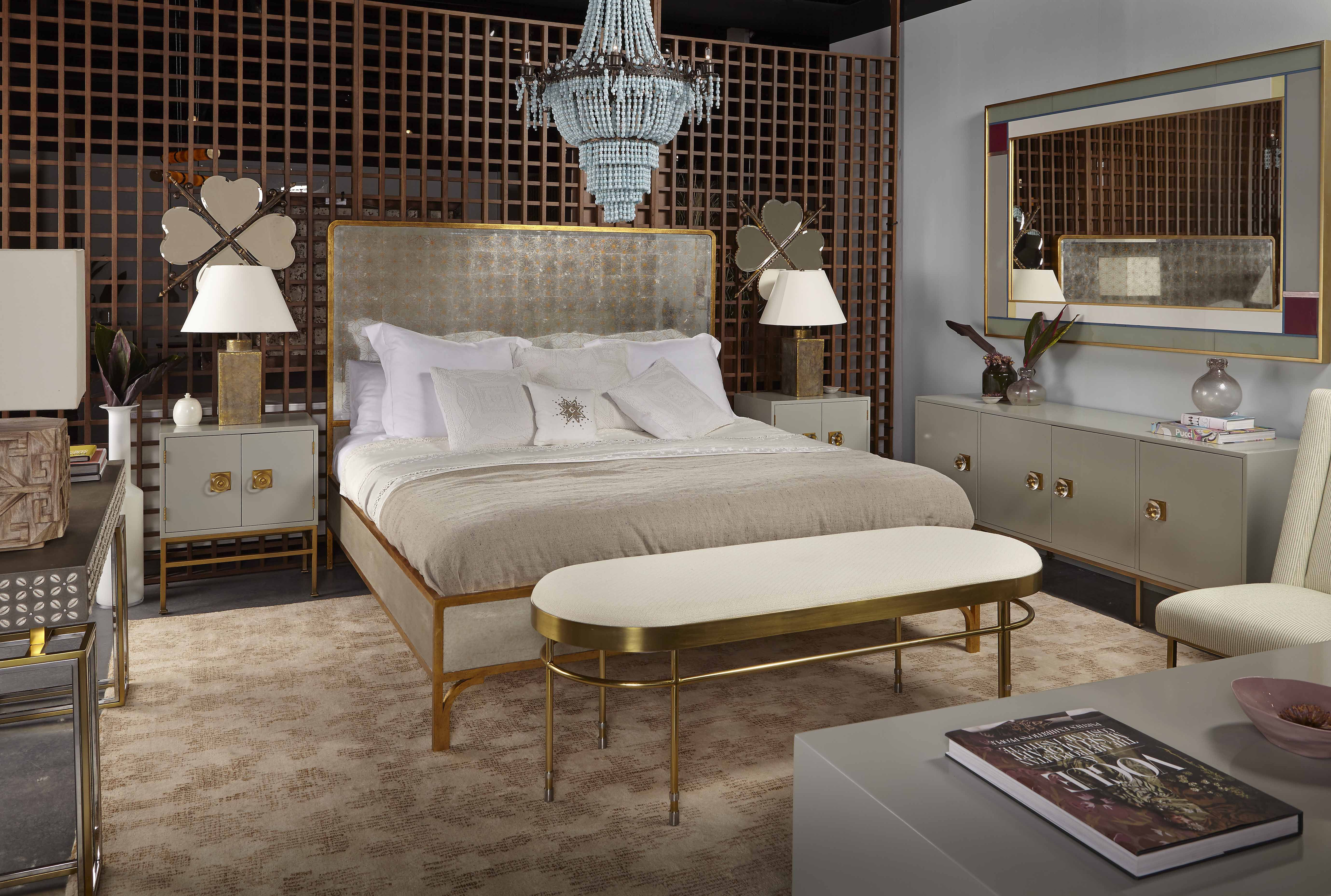 Sublime Slumber Awaits In This Sophisticated Bedroom By Boyd Featuring The Gilded Star Mirror Bed And Formal Bed Centre Sophisticated Bedroom Bedroom Interior