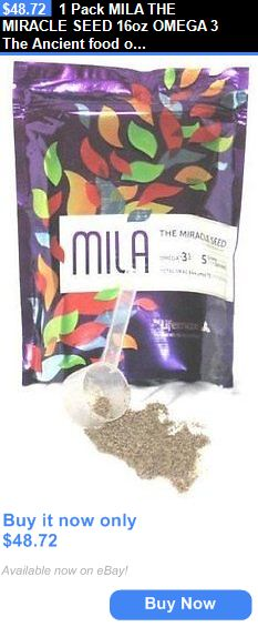 Sports Diet And Weight Loss 1 Pack Mila The Miracle Seed 16oz Omega