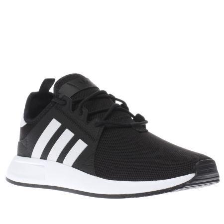 womens adidas black & white x_plr trainers