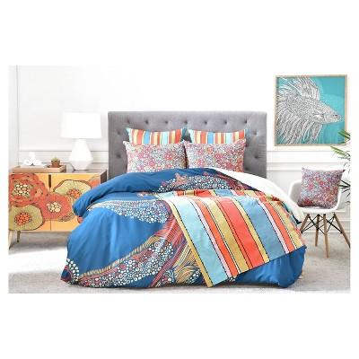 Valentina Ramos Octopus 03 Sherpa Fleece Blanket Orange/Stripe - (60X50) - Deny Designs
