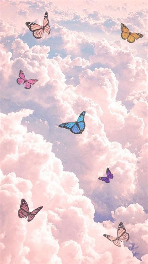 Butterfly Clouds | Butterfly Wallpaper Iphone, Iphone