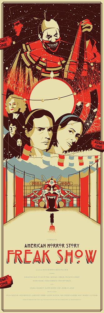 "American Horror Story - Freak Show - Marinko Milosevski ---- ""American Horror Story"" art show at Hero Complex Gallery (2015-10) #AHS"