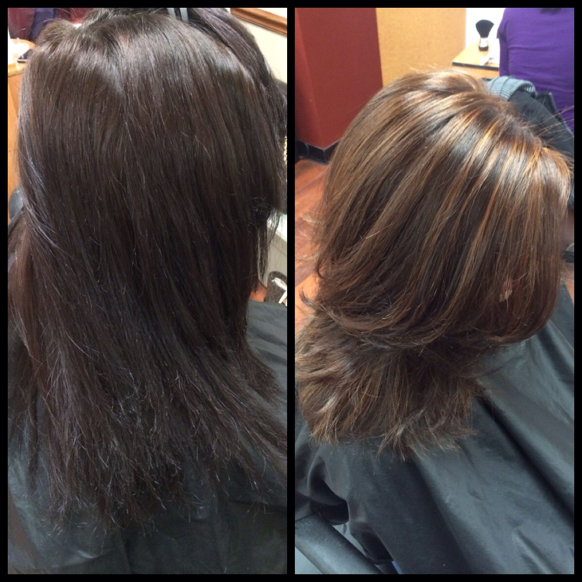 Before After Full Head Of Highlights And A Toner To Acheive