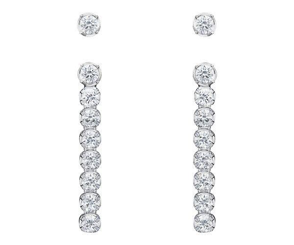 e5239458c2234 Swarovski 5224174 White, Rhodium plating Subtle Pierced Earring ...