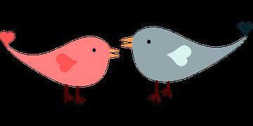 L'Amour, Oiseaux, Tourtereaux, Coeur
