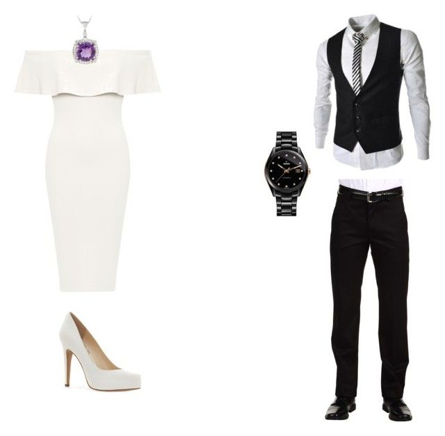 """Clint-Fancy"" by calliehill on Polyvore featuring Rado, Dockers, WearAll, Jessica Simpson and Glitzy Rocks"