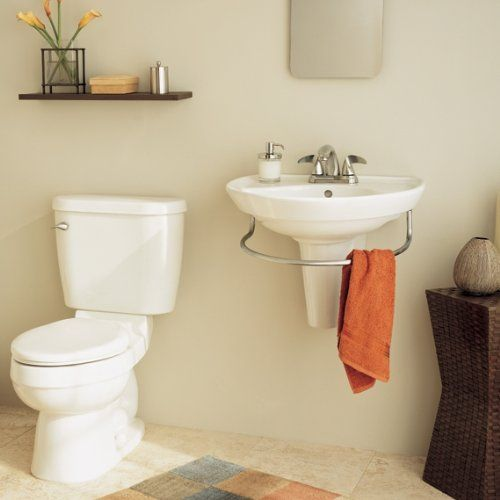 American Standard 0268.144.020 Ravenna Wall Mount Pedestal Sink With Center  Hole, White