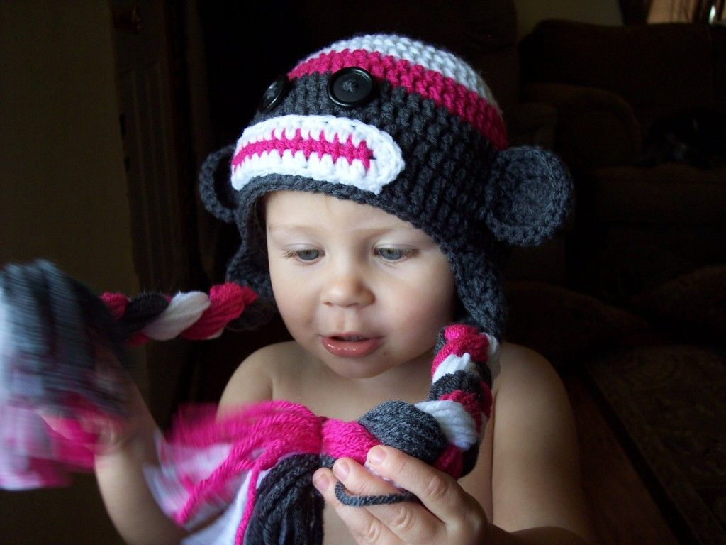 Toddler Sock Monkey Hat - Free Pattern ( I just made this with a J ...