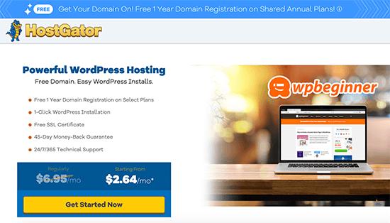 WPBeginner Customers Get a Free Area and 62% off HostGator Internet Internet hosting