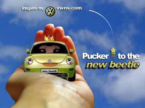 VW Beetle Frog Prince Ad by Caroline Klintworth, via Flickr