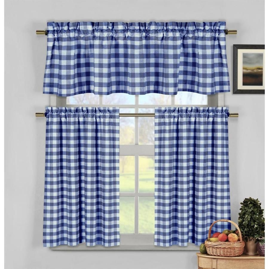 Better Homes And Gardens Checks And Solids Window Set