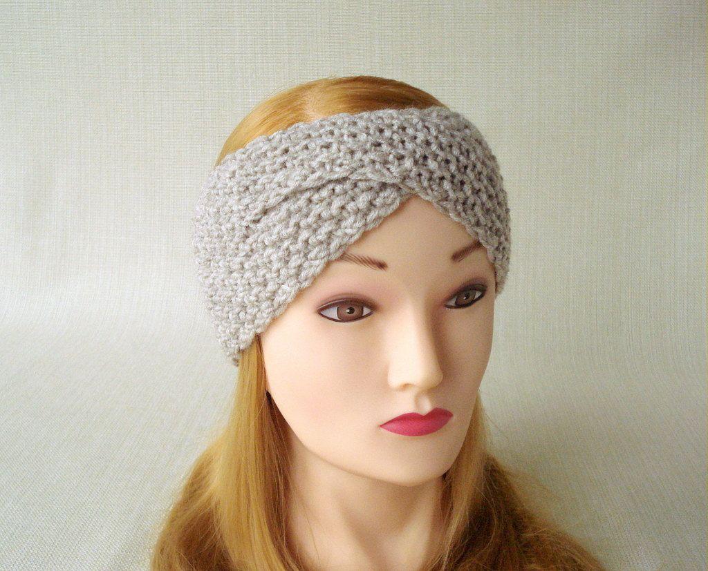 Hand Knit turban headband for women Winter headband Knit ear warmer headband  Adult knit headband Women head bands Knit Earwarmer Head wrap by  LJaccessories ... 55b905ce441
