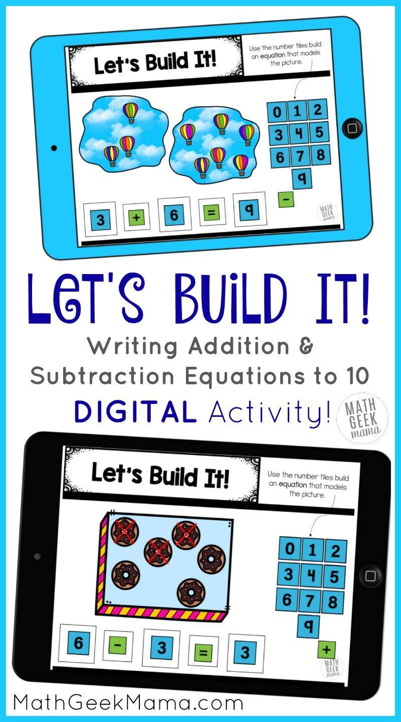 Writing Addition & Subtraction Equations DIGITAL