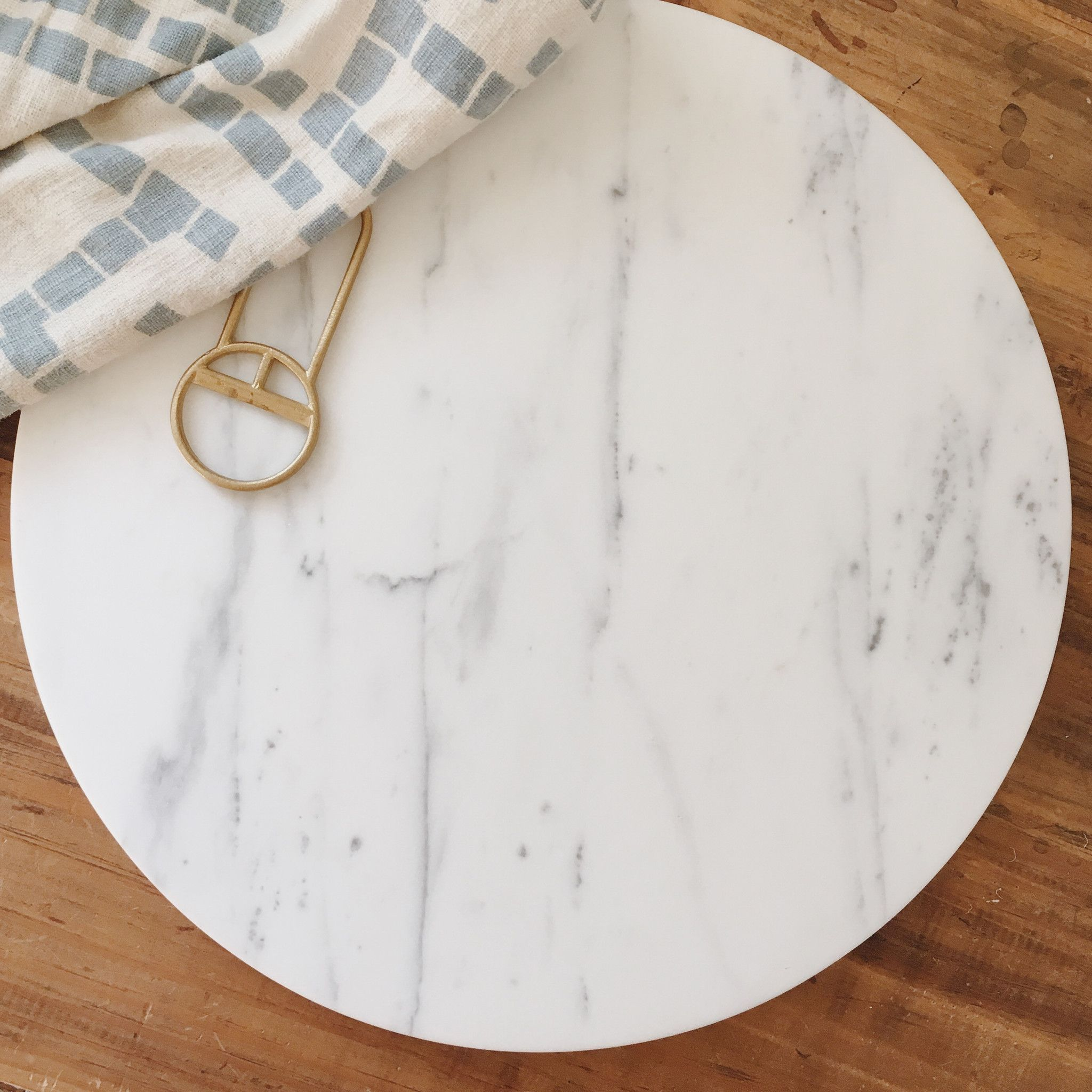Marble Circle Platter by Fort Standard