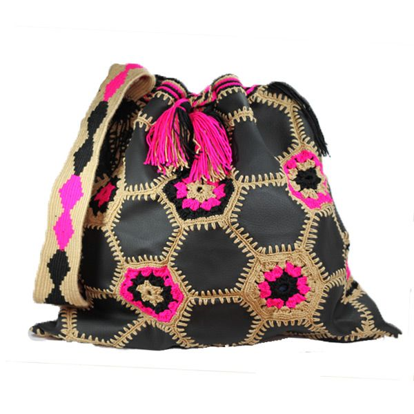 ColStyle-Wayuu-Mochila-Leather-pink-brown