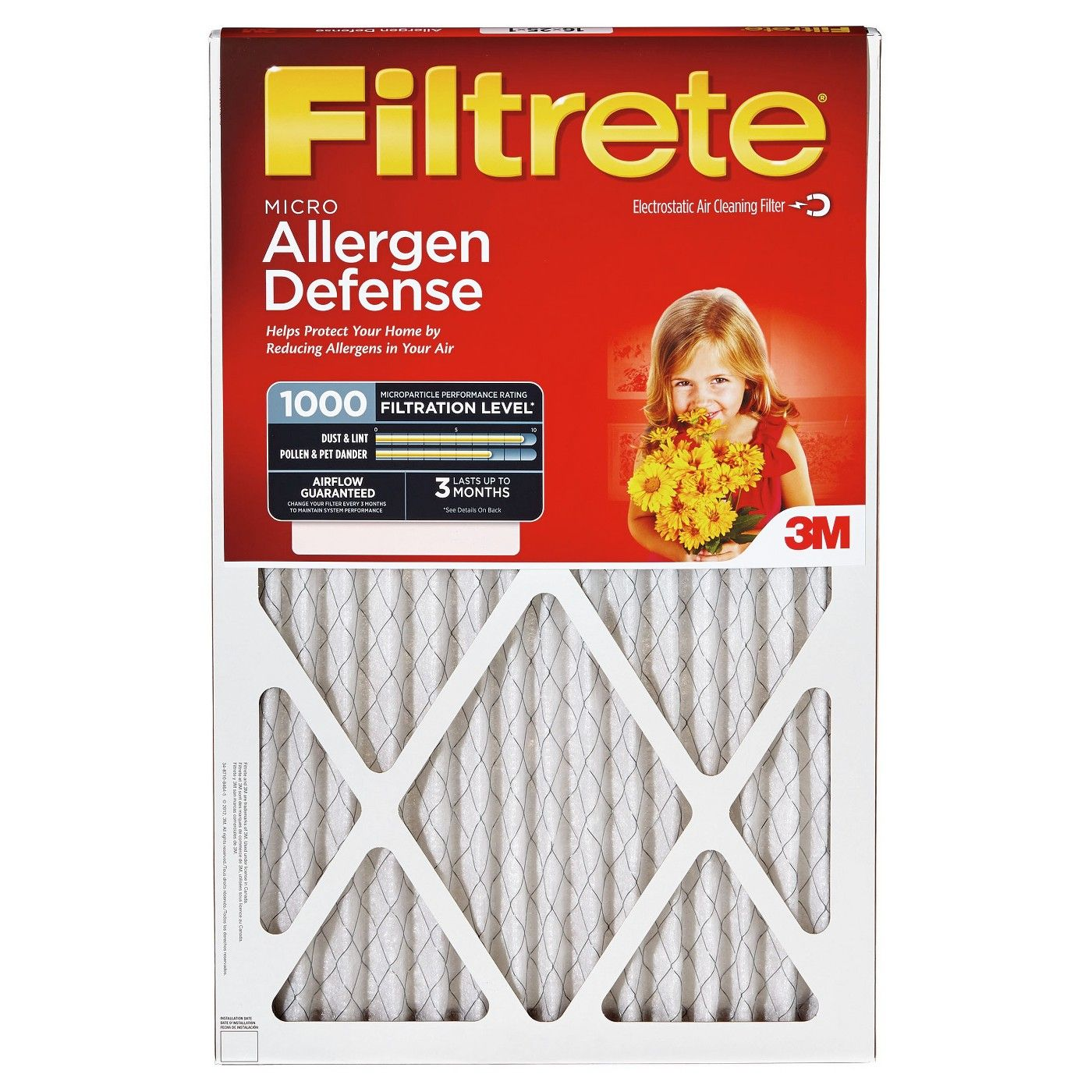 Filtrete Micro Allergen, 2pk 20X20, Air Filter Air