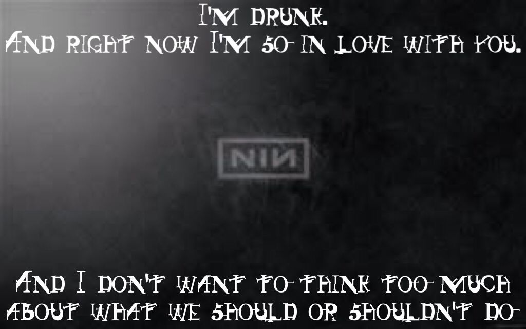 Nine Inch Nails The Only Time Pretty Hate Machine I\'m drunk. And ...