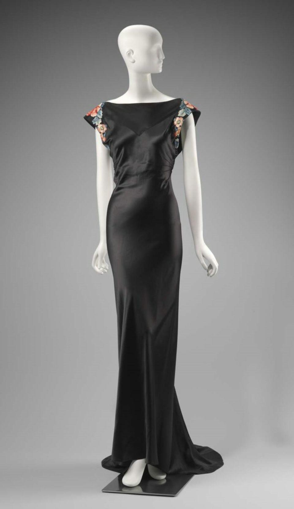 Travis banton womanus evening gown american us vintage