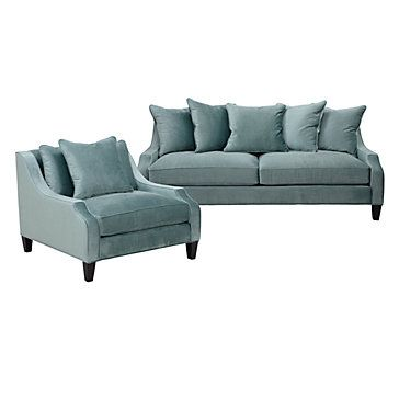 aqua sofa ikea lack table review chic combo brighton chair combos furniture z gallerie