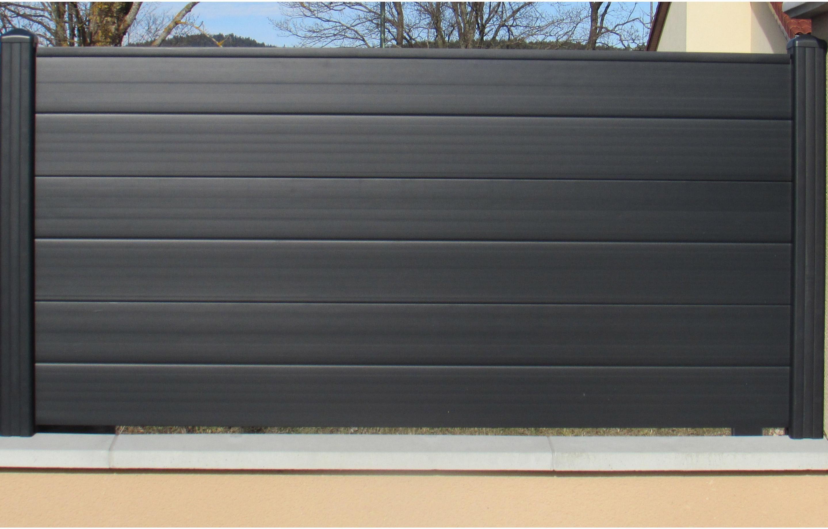 Clôture pvc P-mex plane gris anthracite, H.90 x l.150 cm en ...