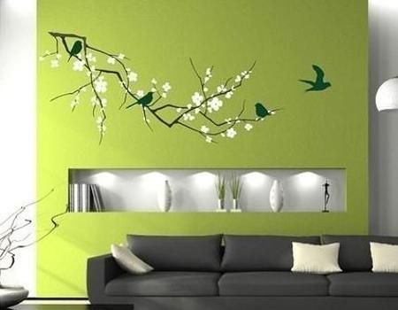 Modern Home Decorating With Wall Stickers Decals And Vinyl Art Ideas Wall Decals Cherry Blossom Branch Vinyl Wall Art Custom Wall Art