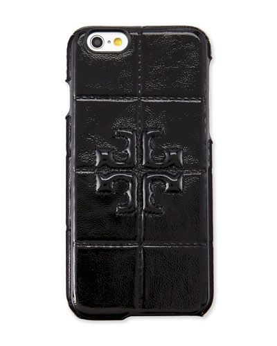 V2MSA Tory Burch Marion Patent iPhone 6 Case, Black