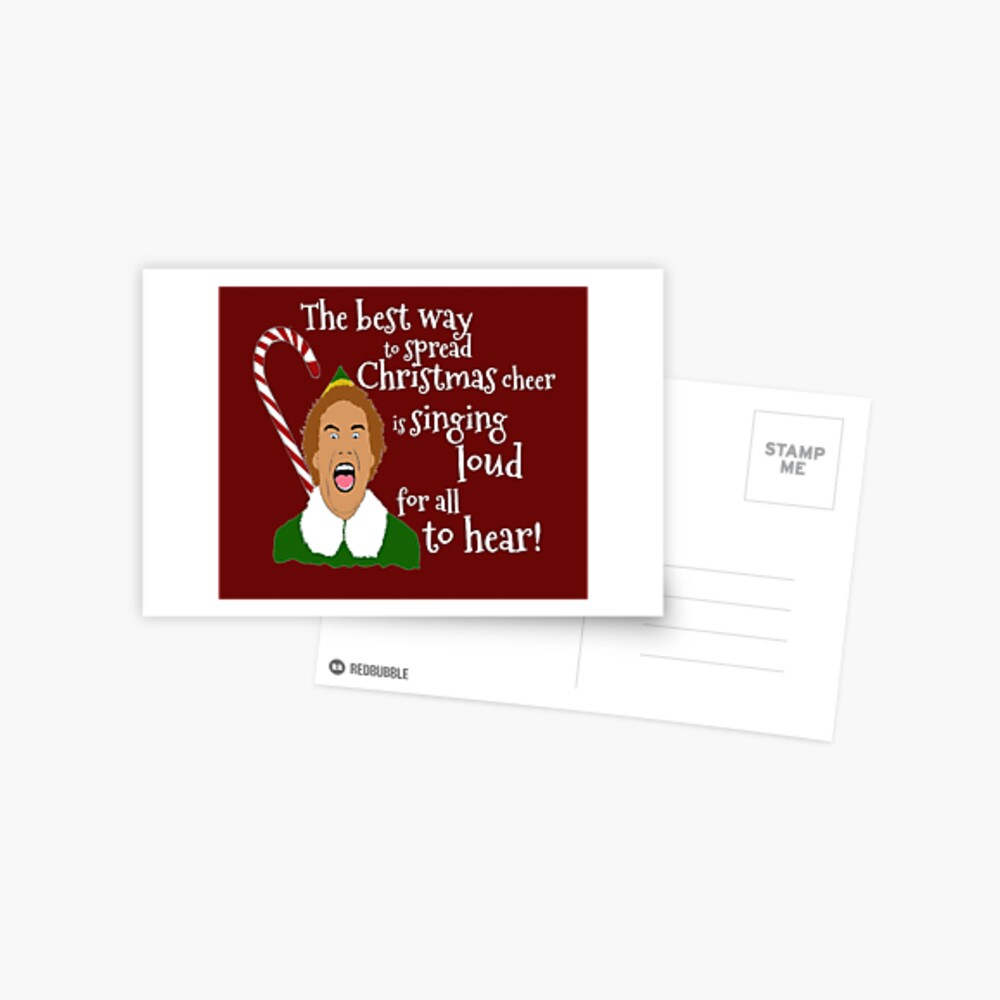 Elf Funny Quotes Greeting Card By Mephobiadesigns Elf Funny Buddy The Elf Quotes Elf Movie Quotes